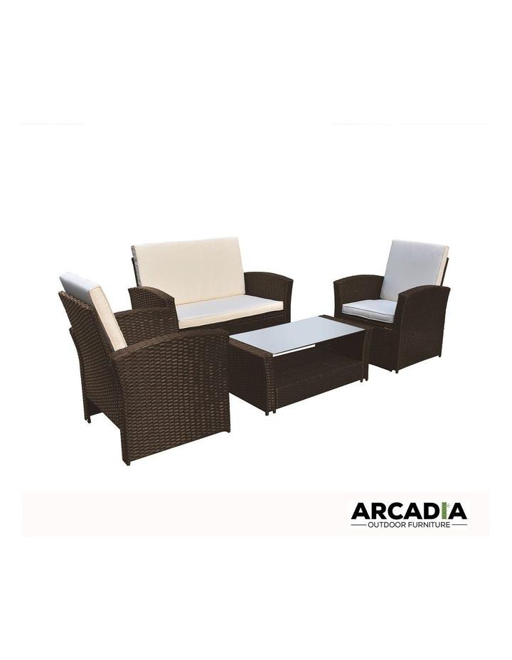 Arcadia Furniture 4 Piece Sofa Set - Oatmeal and Grey image 3