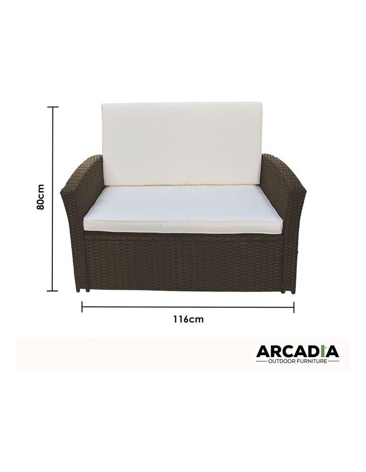 Arcadia Furniture 4 Piece Sofa Set - Oatmeal and Grey image 4