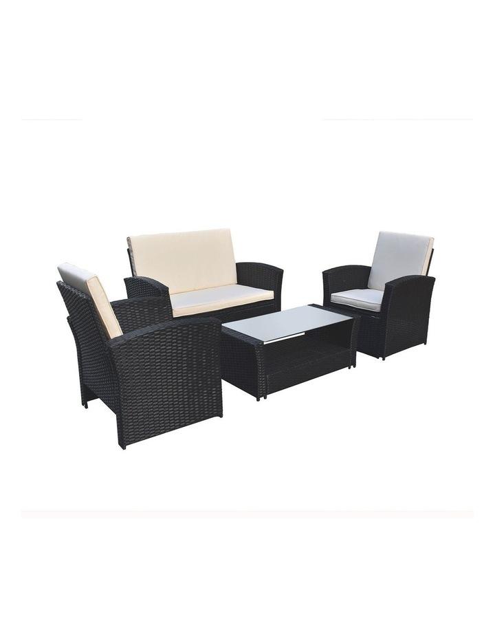Arcadia Furniture 4 Piece Sofa Set - Black and Grey image 3