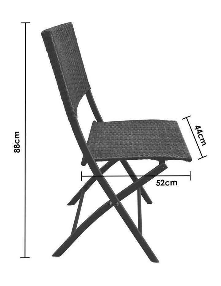 Arcadia Furniture 3 Piece Folding Rattan Coffee Set - Black image 4