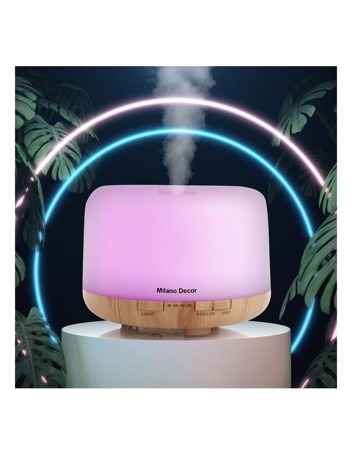 500ml Aroma Mood Light Diffuser Light Wood image 2