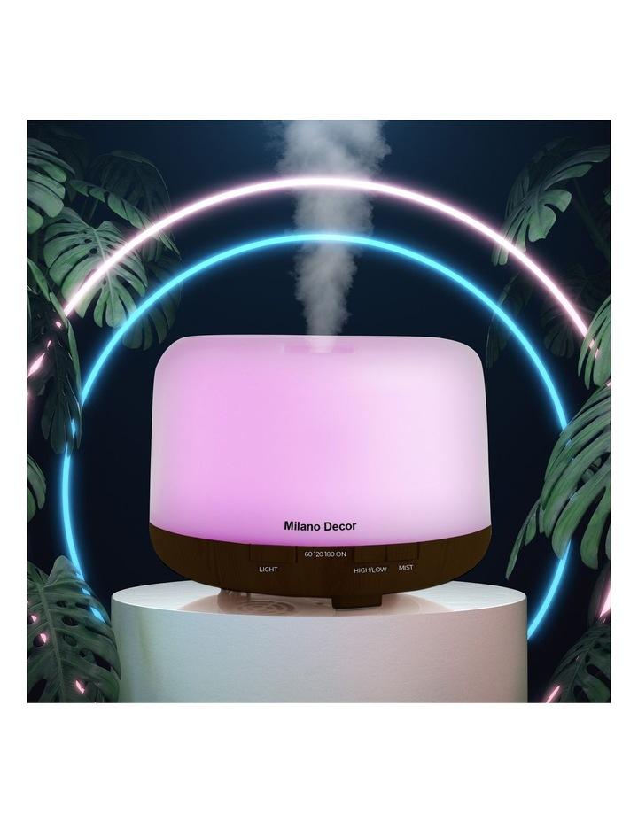 500ml Aroma Mood Light Diffuser Dark Wood image 2