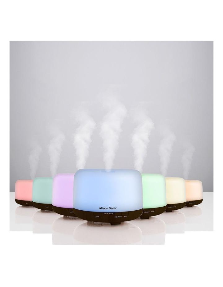500ml Aroma Mood Light Diffuser Dark Wood image 3