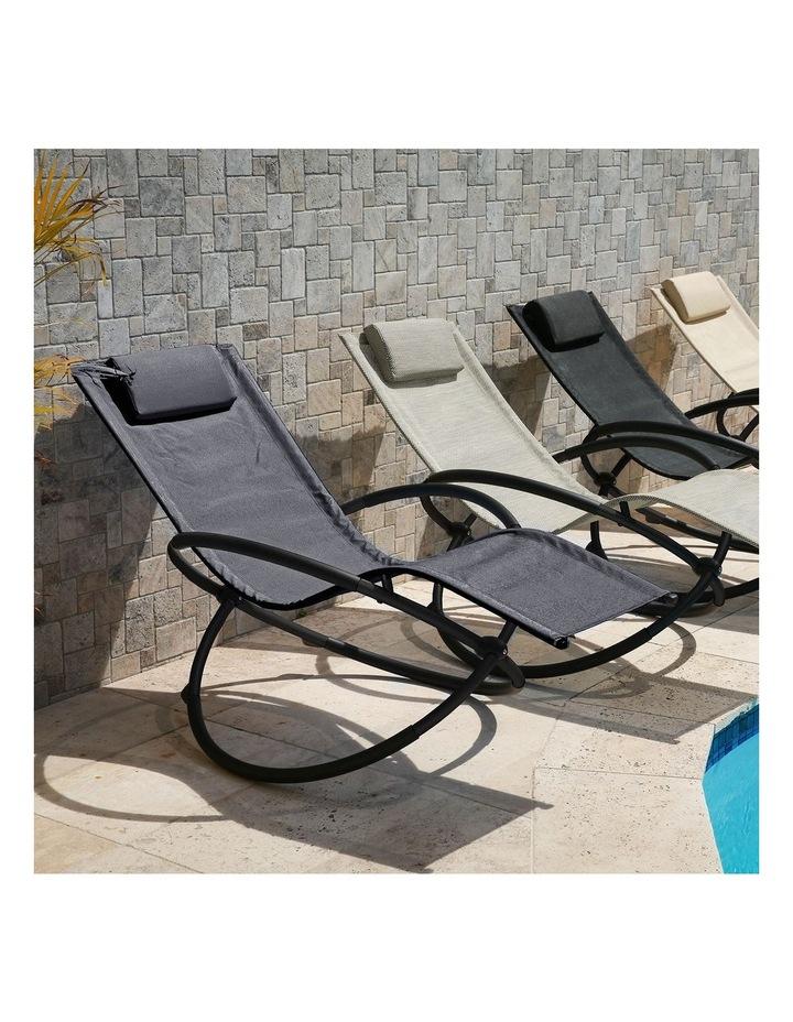 Zero Gravity Rocking Chair  - Grey image 3