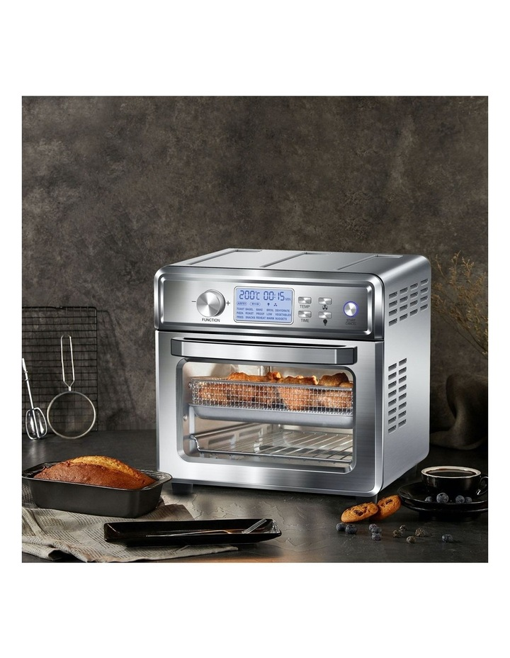 24 Litre Air Fryer Multifunctional LCD Digital Display Silver image 2