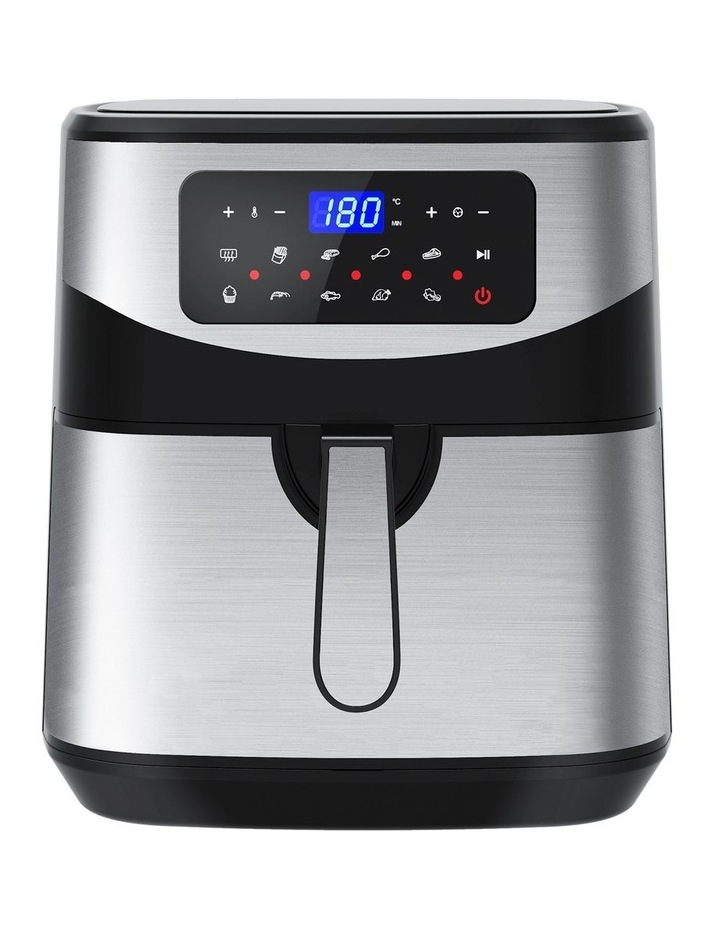 12 Litre Air Fryer Multifunctional LCD One Touch Display Silver image 1