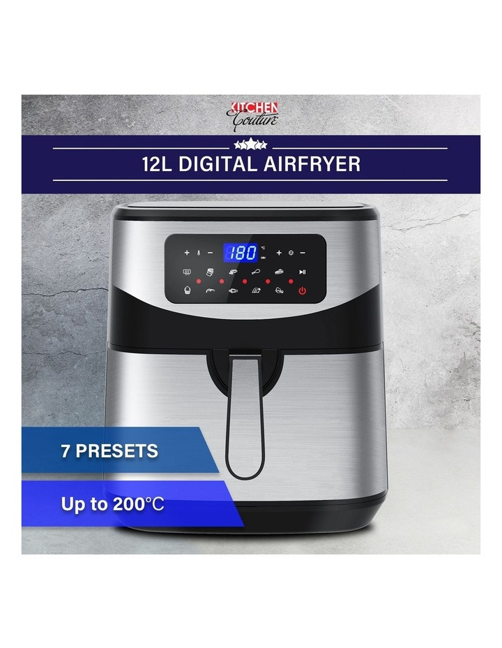 12 Litre Air Fryer Multifunctional LCD One Touch Display Silver image 2