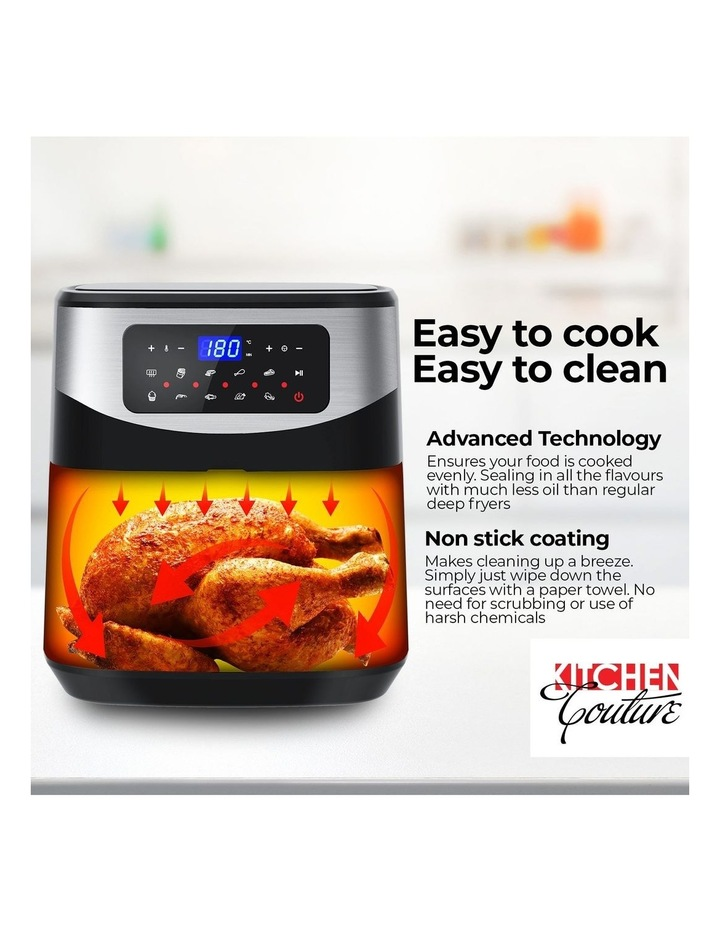 12 Litre Air Fryer Multifunctional LCD One Touch Display Silver image 3