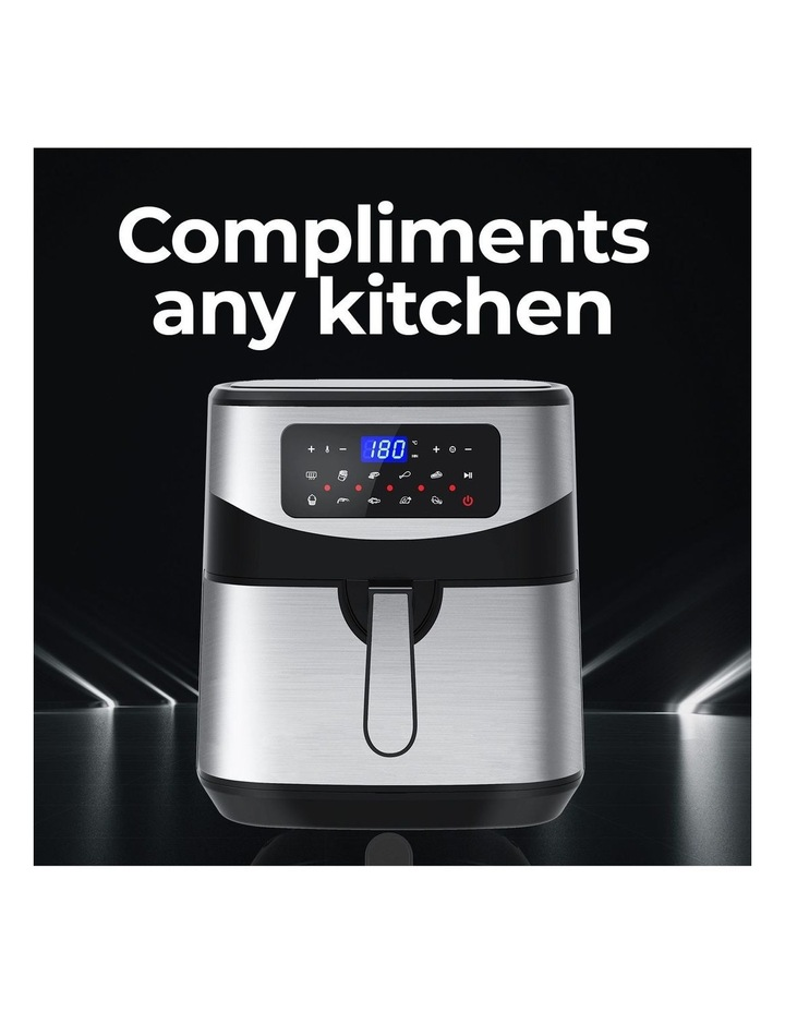 12 Litre Air Fryer Multifunctional LCD One Touch Display Silver image 6