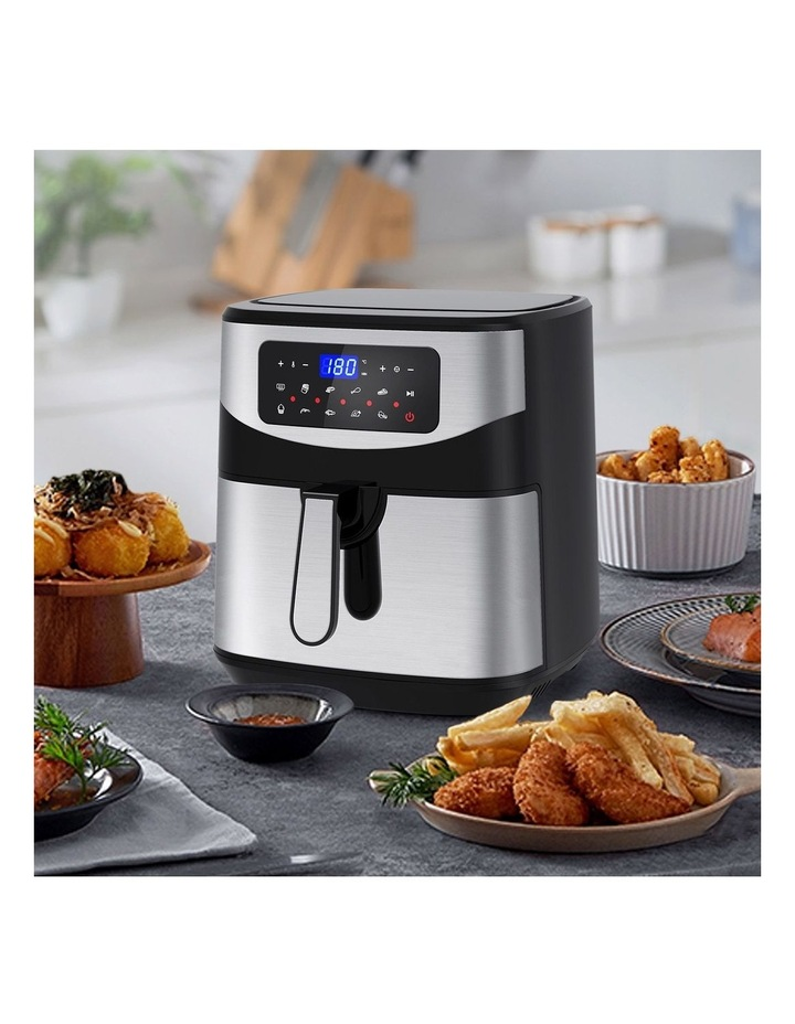 12 Litre Air Fryer Multifunctional LCD One Touch Display Silver image 7
