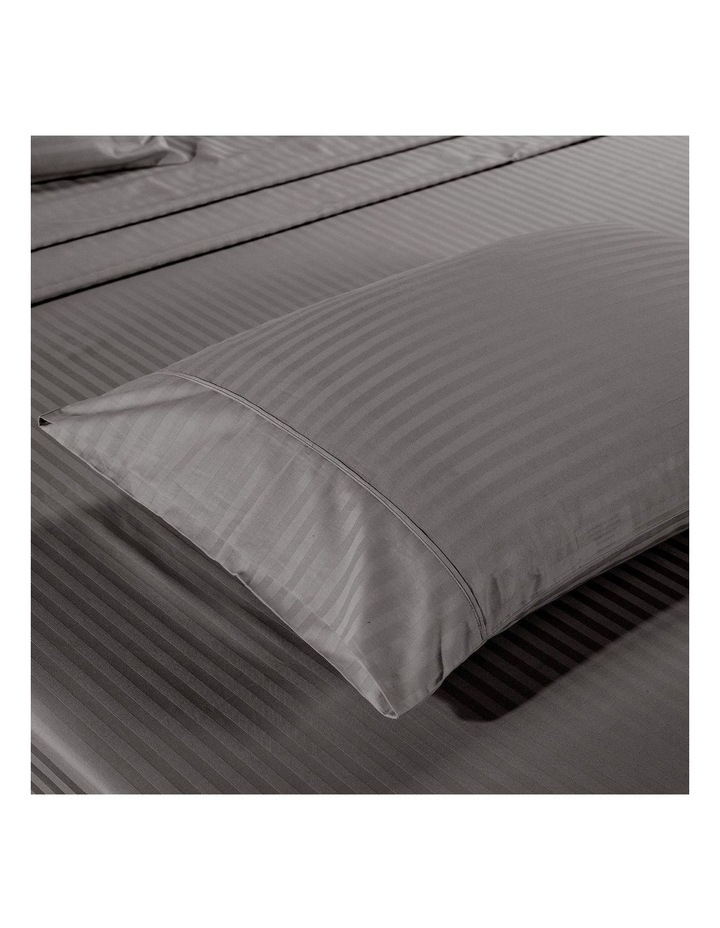 1200 Thread Count 100% Egyptian Cotton Sheet Set Stripe Hotel Grade In Charcoal image 3