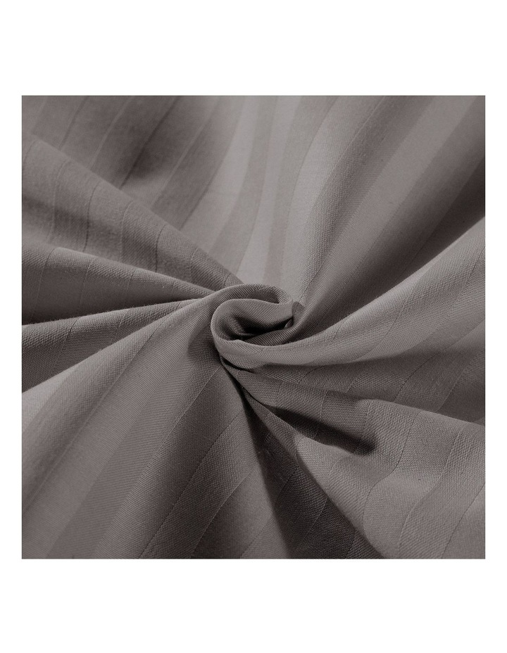 1200 Thread Count 100% Egyptian Cotton Sheet Set Stripe Hotel Grade In Charcoal image 5