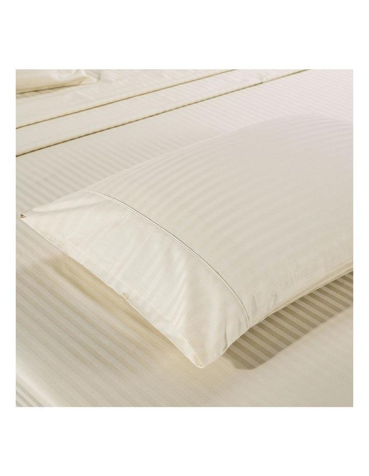 1200 Thread Count 100% Egyptian Cotton Sheet Set Stripe Hotel Grade Queen Sand image 3
