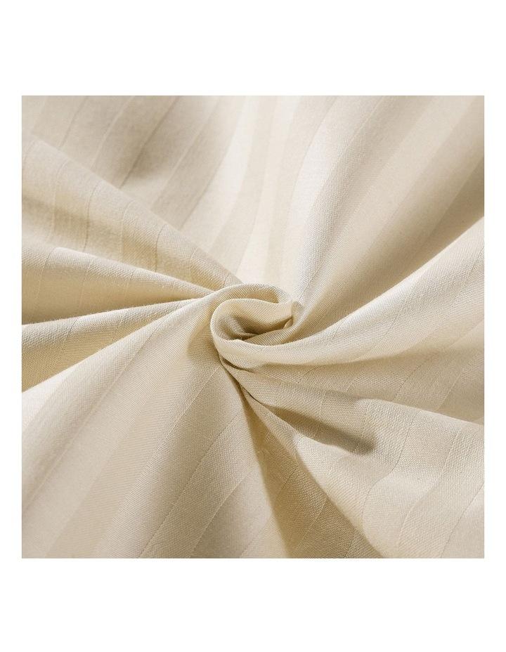 1200 Thread Count 100% Egyptian Cotton Sheet Set Stripe Hotel Grade Queen Sand image 4