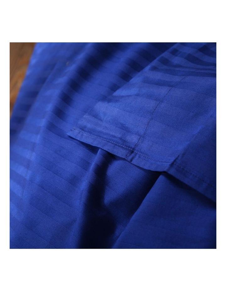 Kensington 1200 Thread Count 100% Egyptian Cotton Sheet Set Stripe Hotel Grade - Indigo Double image 5