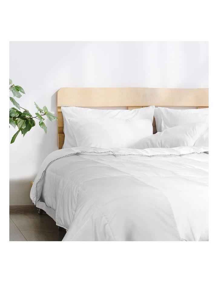 Royal Comfort Bamboo Blend Quilt 250GSM Luxury Doona Duvet 100% Cotton Cover image 2