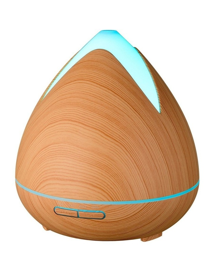 Cool Mist Ultrasonic Diffuser with 3 Pack Essential Oils Light Wood image 1
