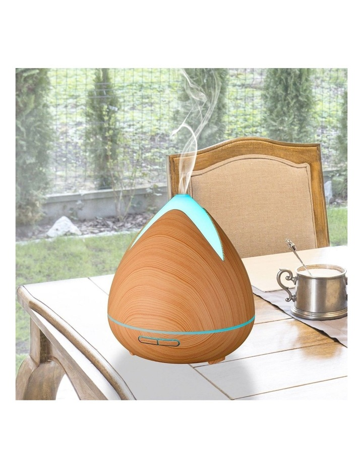 Cool Mist Ultrasonic Diffuser with 3 Pack Essential Oils Light Wood image 3