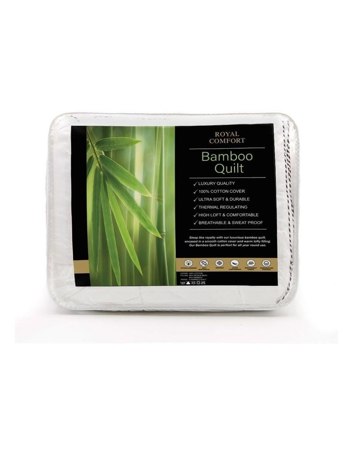 Royal Comfort Bamboo Blend Quilt 250GSM Luxury Doona Duvet image 3