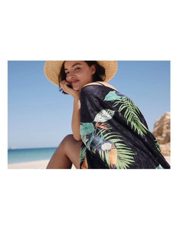 Footloose Large Sand Free Beach Microfibre Towel - Toucan image 2