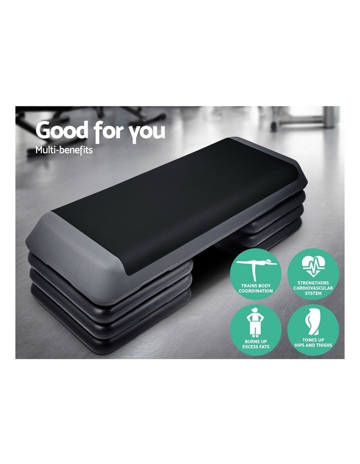 Aerobic Step Gym Fitness Workout Exercise Block 4 Level Bench image 3