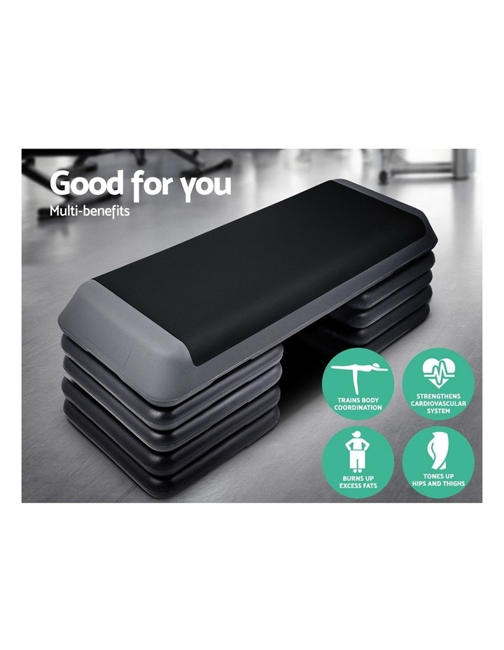 Aerobic Step Gym Fitness Workout Exercise Block 5 Level Bench image 3