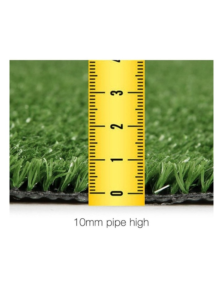 Primeturf 1X10M Synthetic Artificial Grass Fake Turf Olive Plants Plastic Lawn 10mm image 2