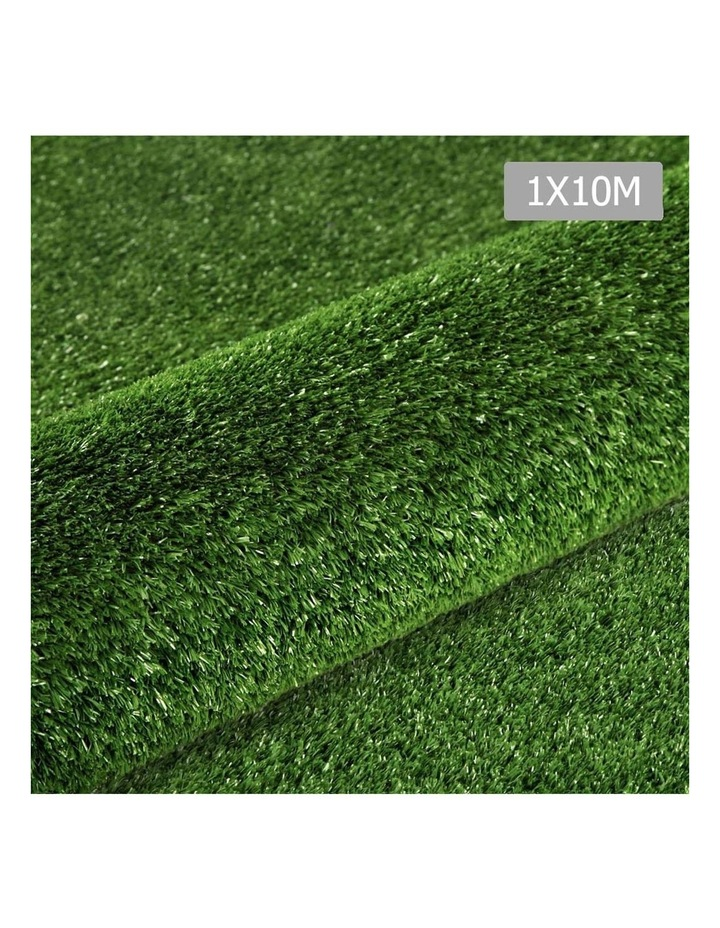 Primeturf 1X10M Synthetic Artificial Grass Fake Turf Olive Plants Plastic Lawn 15mm image 1
