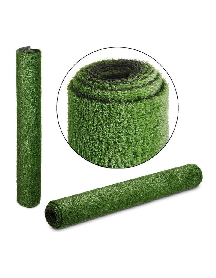 Primeturf 1X10M Synthetic Artificial Grass Fake Turf Olive Plants Plastic Lawn 15mm image 4