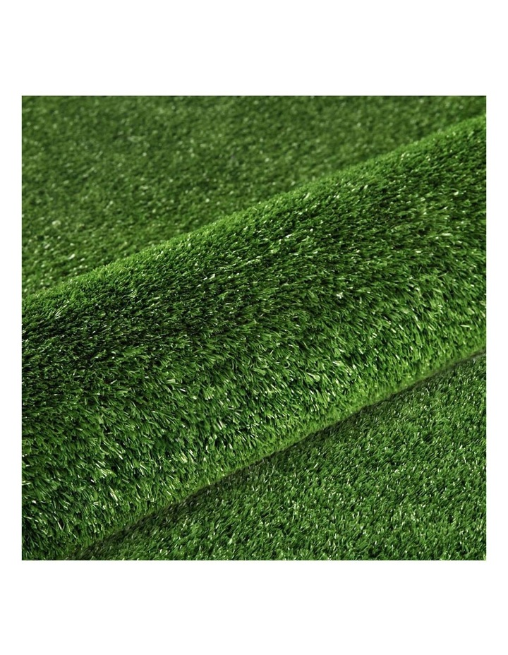 Primeturf 2X10M Synthetic Artificial Grass Fake Turf Olive Plants Plastic Lawn 15mm image 1