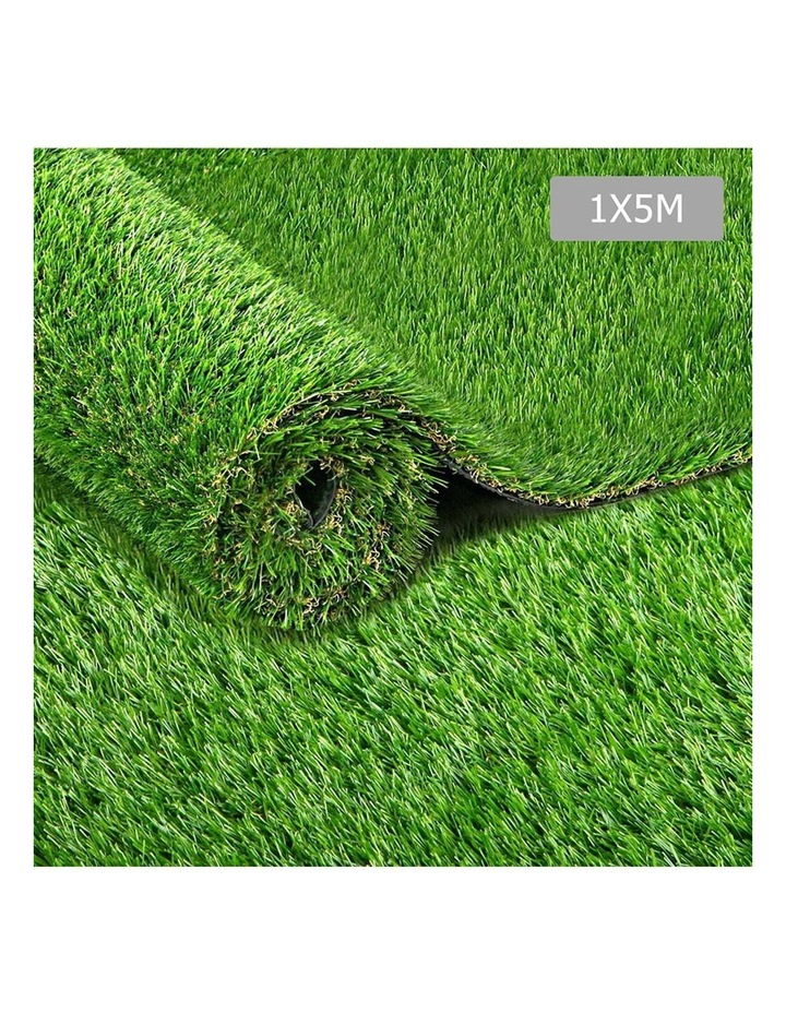 Primeturf 1X5M Synthetic Artificial Grass Fake 5SQM Turf Plastic Plant Lawn 40mm image 1