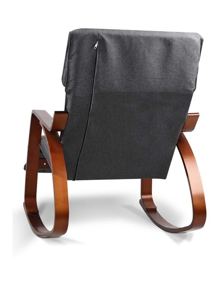 Fabric Rocking Armchair with Adjustable Footrest - Charcoal image 4