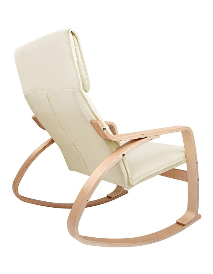 Wooden Armchair With Foot Stool image 3