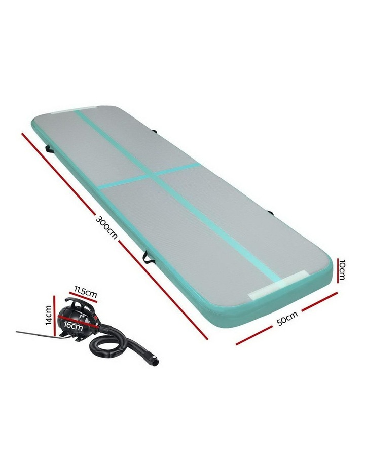 GoFun 3X0.5M Inflatable Air Track Mat with Pump Tumbling Gymnastics Green image 2