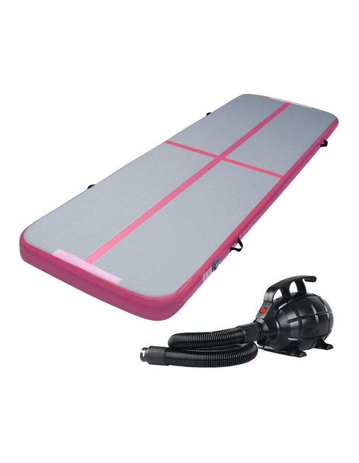 GoFun 3X1M Inflatable Air Track Mat with Pump Tumbling Gymnastics Pink image 1
