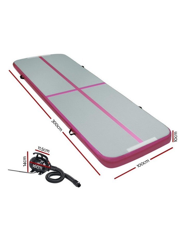 GoFun 3X1M Inflatable Air Track Mat with Pump Tumbling Gymnastics Pink image 2