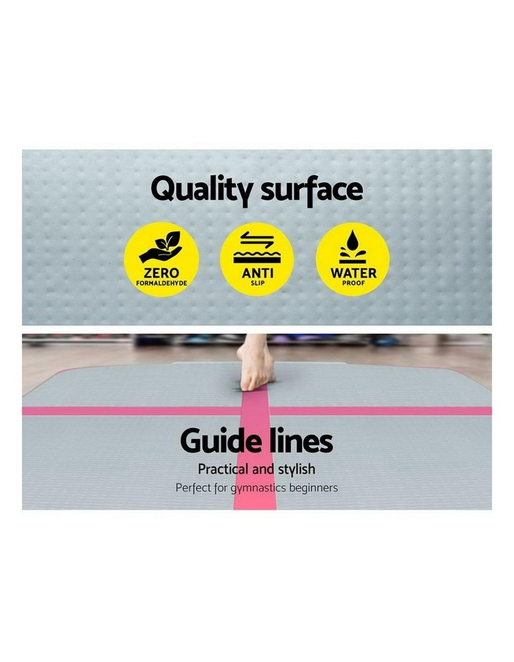 GoFun 3X1M Inflatable Air Track Mat with Pump Tumbling Gymnastics Pink image 3