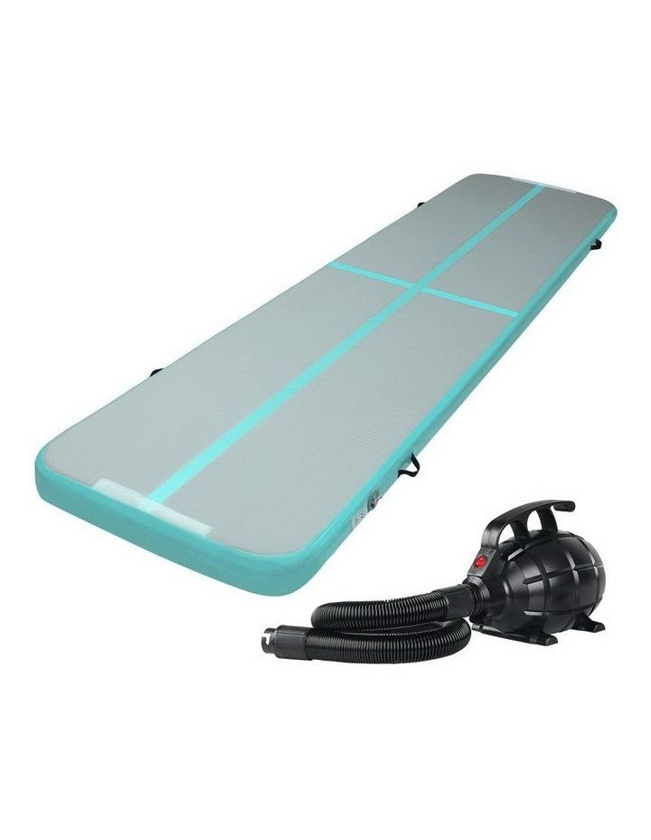 GoFun 4X1M Inflatable Air Track Mat Pump Tumbling Floor Gymnastics Green image 1
