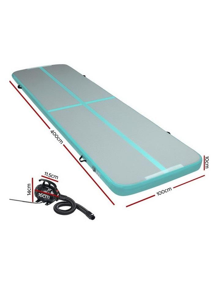 GoFun 4X1M Inflatable Air Track Mat Pump Tumbling Floor Gymnastics Green image 2