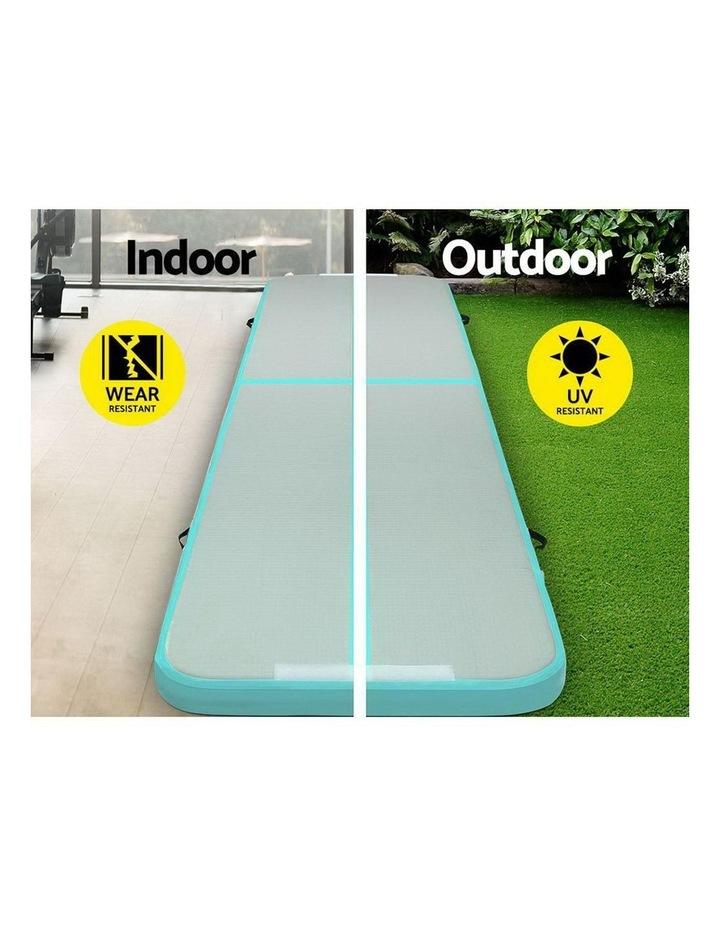 GoFun 4X1M Inflatable Air Track Mat Pump Tumbling Floor Gymnastics Green image 3