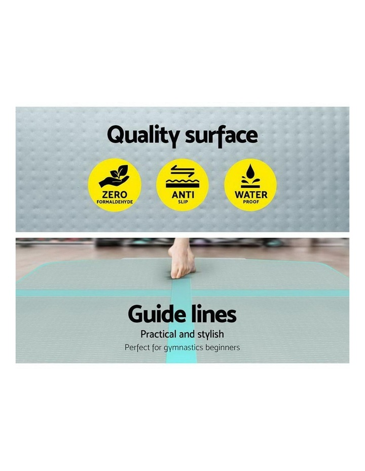 GoFun 4X1M Inflatable Air Track Mat Pump Tumbling Floor Gymnastics Green image 4