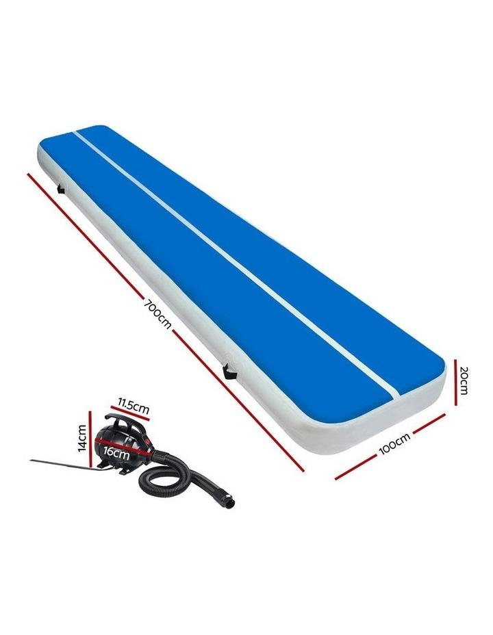 GoFun 7M Inflatable Air Track Mat W/Pump Tumbling Floor Gymnastics 20CM image 2