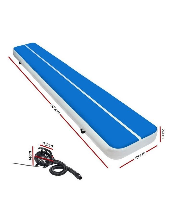 GoFun 8M Inflatable Air Track Mat W/Pump Tumbling Floor Gymnastics 20CM image 2