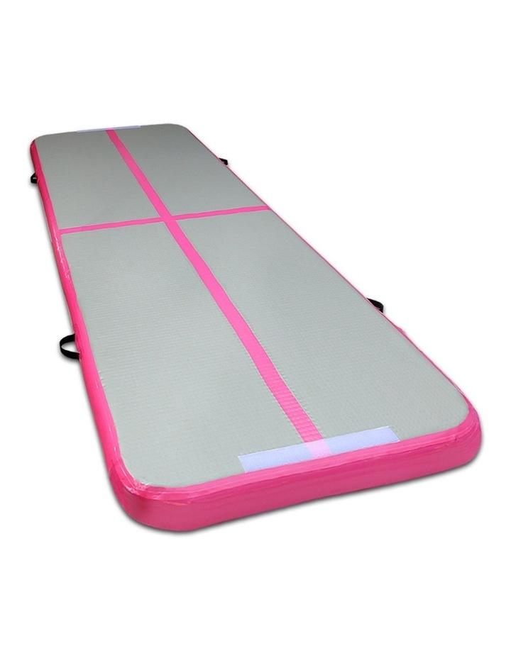 Inflatable Air Track Mat Gymnastic Tumbling 3m x 100cm - Pink & Grey image 1