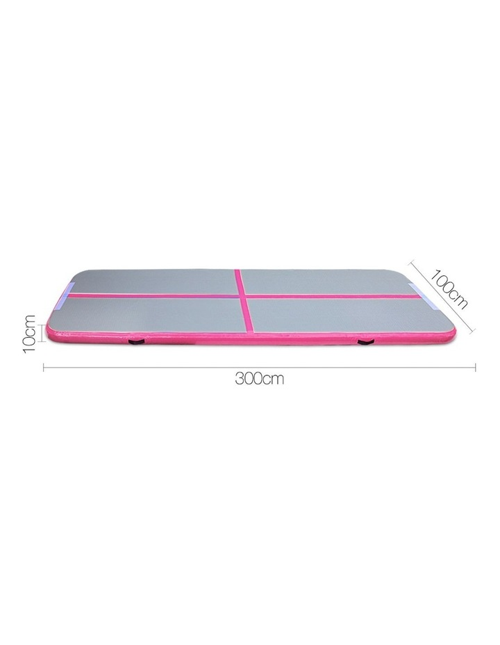 Inflatable Air Track Mat Gymnastic Tumbling 3m x 100cm - Pink & Grey image 2