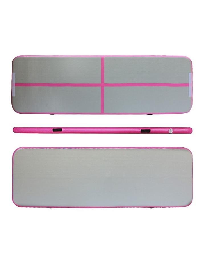 Inflatable Air Track Mat Gymnastic Tumbling 3m x 100cm - Pink & Grey image 3