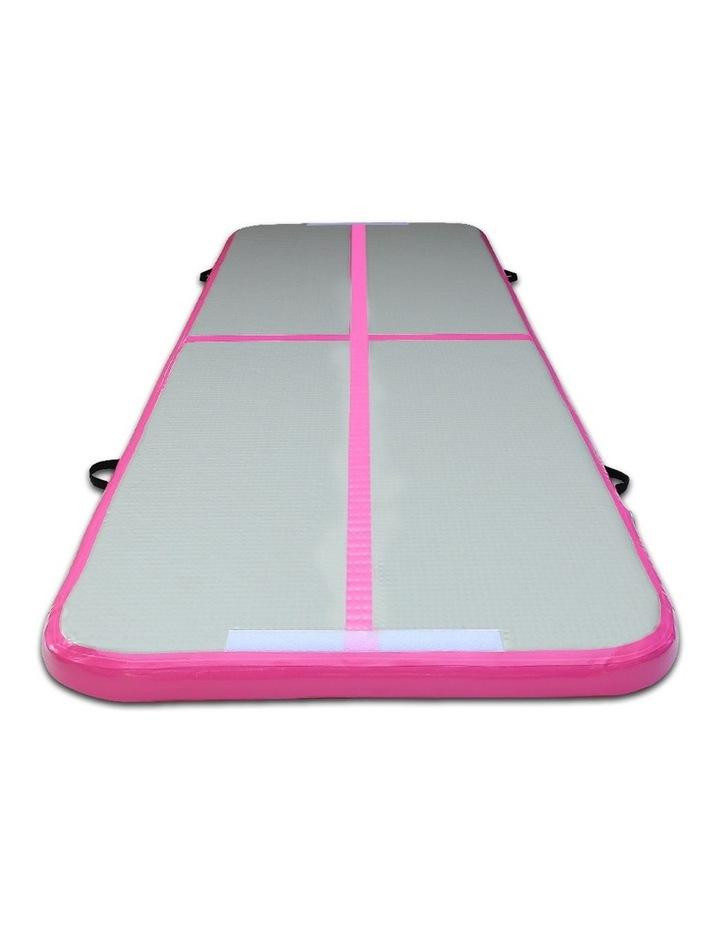 Inflatable Air Track Mat Gymnastic Tumbling 3m x 100cm - Pink & Grey image 4