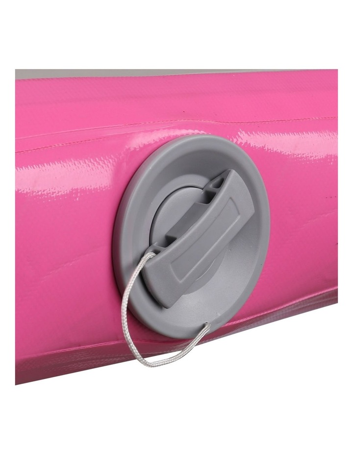 Inflatable Air Track Mat Gymnastic Tumbling 3m x 100cm - Pink & Grey image 7