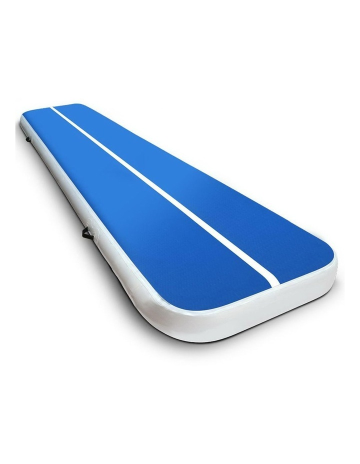 Inflatable Air Track Mat Gymnastic Tumbling 4m x 100cm - Blue image 1