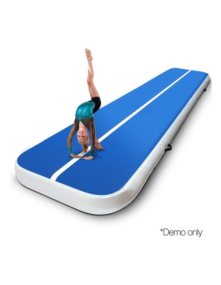Inflatable Air Track Mat Gymnastic Tumbling 4m x 100cm - Blue image 3